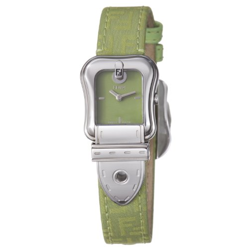 Fendi B. Fendi Ladies Green Fabric Leather Strap