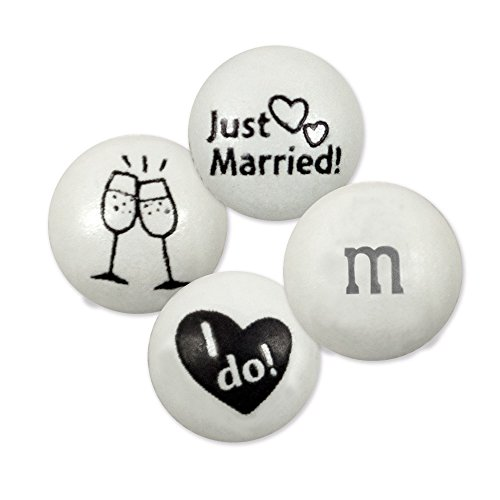 Just Married Wedding Mix M&M'S Milk Chocolate Candies - 2lb Bag, Approx 1,000 Pieces