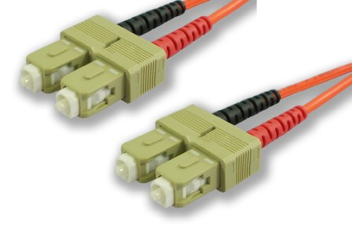 Lynn Electronics Scscdupmm-15M Sc-Sc 62.5/125 Duplex Multi-Mode Fiber Optic Patch Cable, 15-Meter, Orange