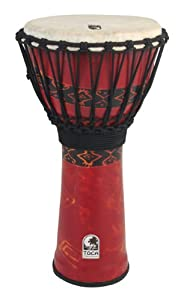 Toca Synergy Freestyle Djembe Red 12 Inches