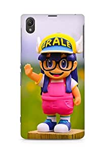 Amez designer printed 3d premium high quality back case cover for Sony Xperia Z1 C6902 (Cute Doll)