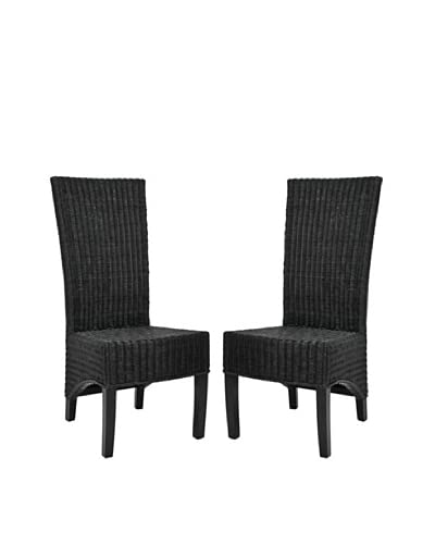 Safavieh Set of 2 Siesta Side Chairs, Black