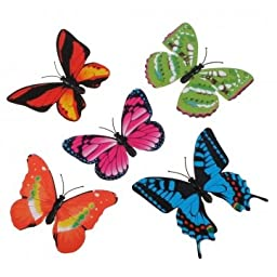 Obsidian 3D Artificial Butterfly Pin Party Wedding Decoration Xmas
