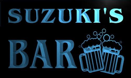 w006048-b-suzukis-nom-accueil-bar-pub-beer-mugs-cheers-neon-sign-biere-enseigne-lumineuse