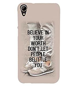 Printvisa Confidence Quote In A Plain Background Back Case Cover for HTC Desire 828