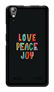 "Humor Gang Love Peace Joy Printed Designer Mobile Back Cover For ""Lenovo A6000"" (3D, Glossy, Premium Quality Snap On Case)"