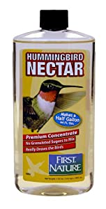 First Nature Clear Hummingbird Nectar, 16-ounce Concentrate