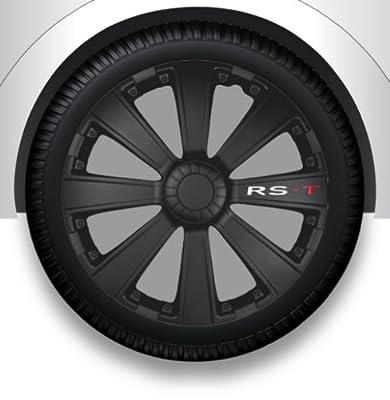 """15"""" Zoll Radzierblenden/Radkappen/Radabdeckung mit Tasche SCHWARZ ABS #18 von ZX auf Reifen Onlineshop"""