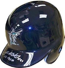 Josh Beckett Autographed Florida Marlins Mini Helmet - Autographed MLB Mini Helmets