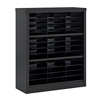 "Sandusky Lee BQD2-09 Black Steel Powder coat Snapit Literature Organizer, 42"" Height x 34-1/2"" Width x 13"" Depth"