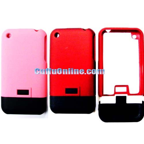 Cuffu BONUS PACKAGE 2 cases (Baby Pink + Red) 2tone , specially designed for Apple iPhone 1st Generation Case Cover (NOT for iPhone 3G / 3G S)