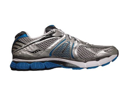 Saucony Men's Progrid Triumph 7 Running Shoe,Silver/Black/Blue,11 M US