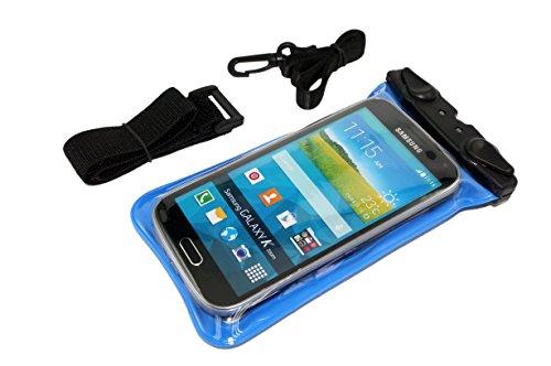 20M Wasserdicht Unterwasser-Hülle Tasche für Apple iPhone 4S 4 5 5S Samsung Galaxy S3 S4 Smartphone HTC One + Free Halsband und Armband - Blau