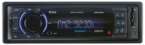 BOSS AUDIO 625UAB Single-DIN MECH-LESS Receiver, Bluetooth, Detachable Front Panel, Wireless Remote