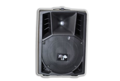 Ds18 Ds-Pa15Abt 15-Inch 2,000 Watts 2-Way Powered/Active Speaker Box With Bt/Fm/Usb/Sd/Eq/Mp3 And Microphone