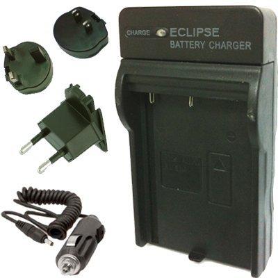 Eclipse NIKON EN-EL10 Ladegerät Akku kompatible Nikon MH-63 für Nikon Coolpix S60, S80, S200, S210, S220, S225, S230, S500, S510, S520, S600, S700, S3000, S4000, S5100 mit EURO UK USA Reise Stecker und AC Auto-Adapter