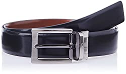 Covo Black and Brown Leather Men's Formal Belt (AXB07-36)
