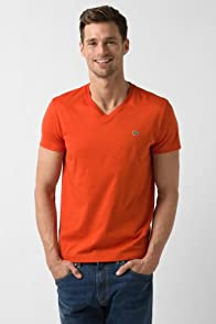 Short Sleeve Pima Jersey V-Neck T-Shirt