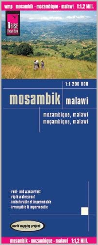 Malawi & Mozambique 1,200,000 Travel Map, waterproof, GPS-compatible REISE, 2012 edition