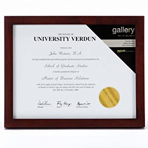 Nexxt Gallery Wood Frame, 8.5 by 11-Inch, Java
