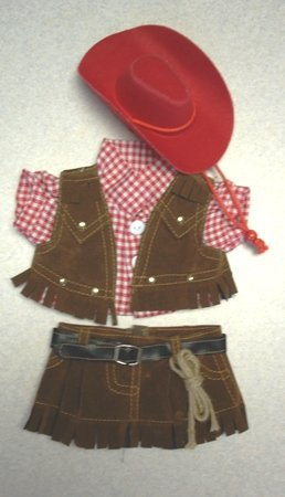 Cowgirl Outfit w/Hat and Scarf Clothing Fits