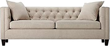 Lakewood Tufted Sofa - 30HX85WX31D - LINEN PEARL