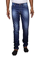 John Wills Men's Slim Fit Jeans (MCR1016--40, Blue, 40)