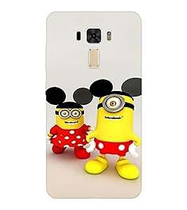 EPICCASE Minion with Mickey Ears Mobile Back Case Cover For Asus Zenfone 2 Laser ZE551KL (Designer Case)