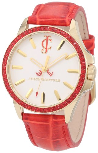 Juicy Couture Women's 1900970 Jetsetter Red Leather Strap Watch