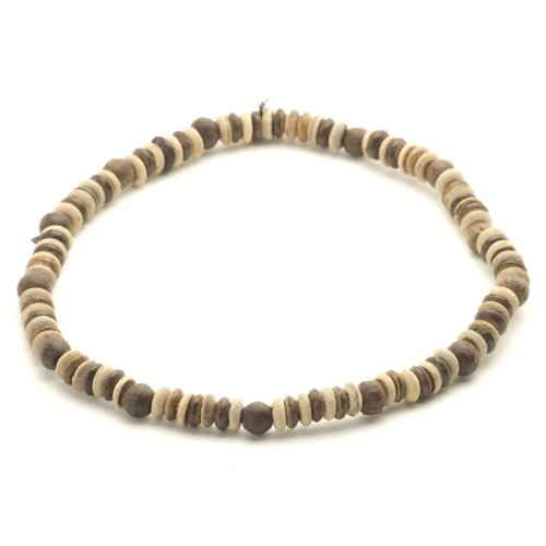 Brown wood bead buddist surf tribal hippie necklace by 81stgeneration