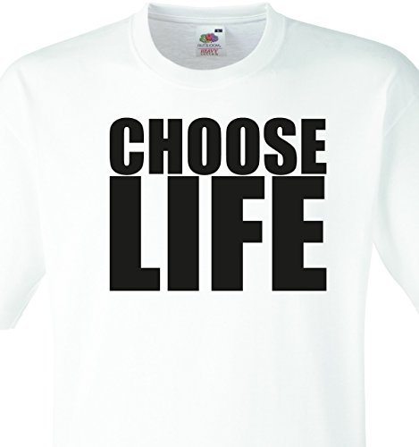 Choose Life Wham Retro 80s T-Shirt Fancy Dress, 8 Sizes (Large 41-43)