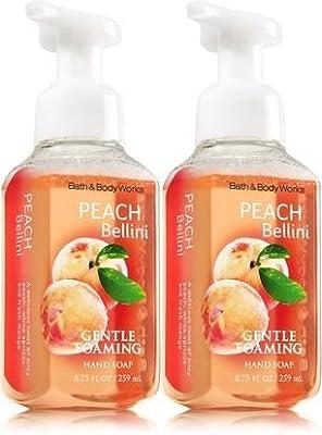 Bath&Body Works Gentle Foaming Hand Soap Peach Bellini, 8.75 Ounce, (Pack of 2)