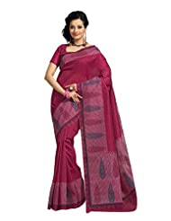 Fabdeal Indian Wear Light Brown Cotton Printed Saree - B00KPVR1BA
