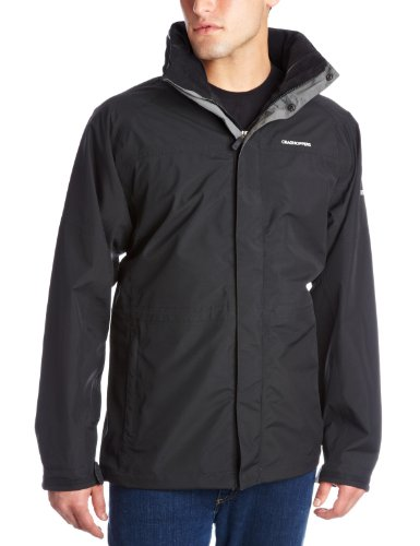 Craghoppers Men's Kiwi Long Sleeve Gore-Tex Jacket,Black,Small