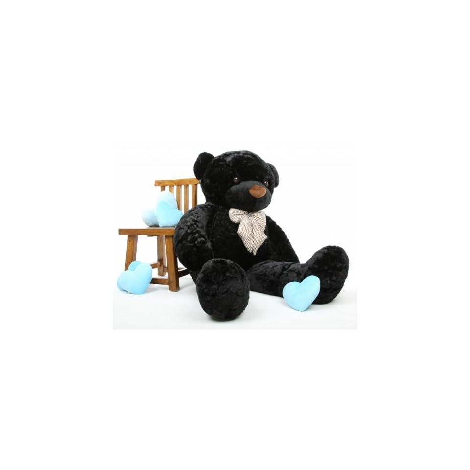 Juju Cuddles Beautiful Black Plush Teddy Bear 60in   Giant Teddy Bear
