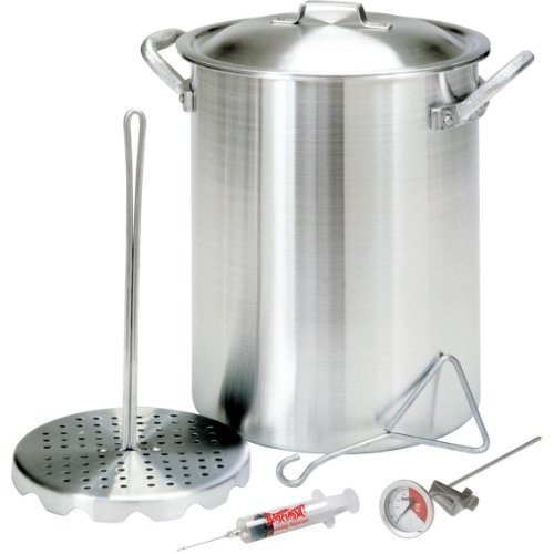 Bayou Classic Heavy 2.5 mm Thick Aluminum Turkey Fryer Stockpot - 26 qt.