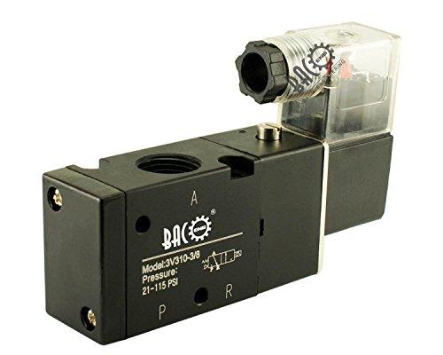 """BACOENG DC12V BSP 2 Postion 3 Wege 3/8"""" Pneumatik Mechanische Ventil Luft Magnetventil( 1/8"""" 1/2"""" 1/4"""" )"""