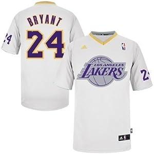 Kobe Bryant Los Angeles Lakers #24 NBA Kids Sizes 4-7 Short Sleeve Jersey White by adidas