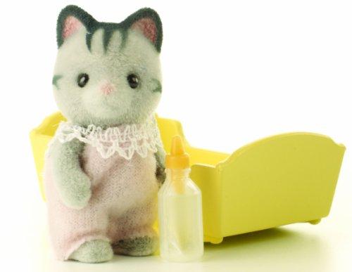 Sylvanian Families Grey Cat Baby