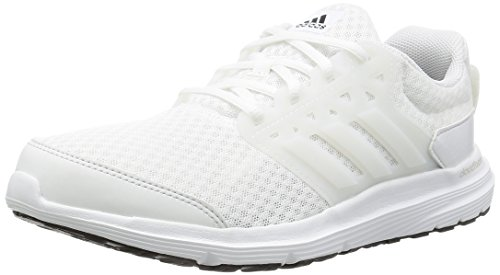 adidas - Galaxy 3, Scarpe Running Uomo, Bianco (Ftwr White/Crystal White/Silver Met), 42 2/3 EU