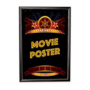 "Amazon.com : Movie Poster Frame - 27""x40"" Black with ..."