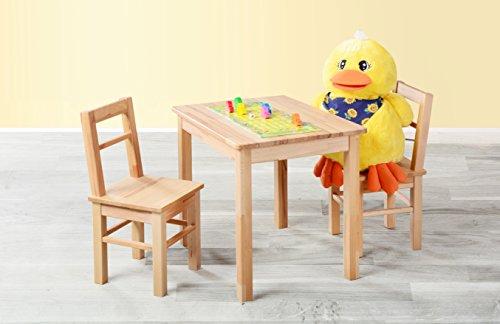 1199-Kindersitzgruppe-3-tlg-Tisch-2-Sthle-aus-kernbuche-massiv-Holz