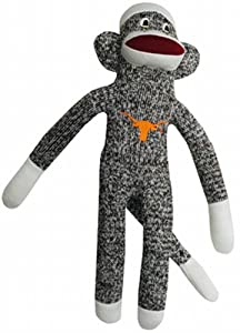 NCAA Texas Longhorns Plush Sock Monkey at 'Sock Monkeys'