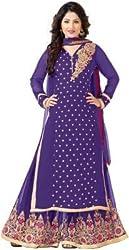 Anbazaar Purple Georgette Salwar Kameez