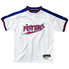 Detroit Pistons Youth White T-Shirt by Reebok