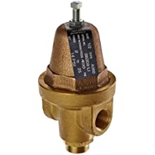 "Cash Valve 08359-0014 Brass Pressure Regulator, 2 - 25 PSI Pressure Range, 1/2"" NPT Female"