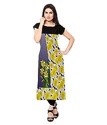 Saiveera Fashion New Arrival Women's Crepe Long Kurtis (VAT151_MultiColoured_Medium)