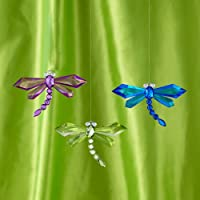 Acrylic Jewel Dragon Fly Ornmn (Pack Of 12)