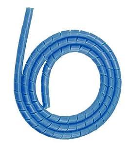 "Hose Cover Protector Spiral Wrap 50"" for Scuba Dive Regulator Gauge, Blue"