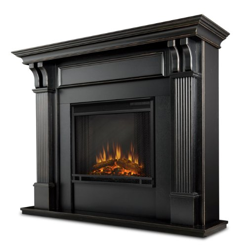 Real Flame Ashley Electric Fireplace, Blackwash